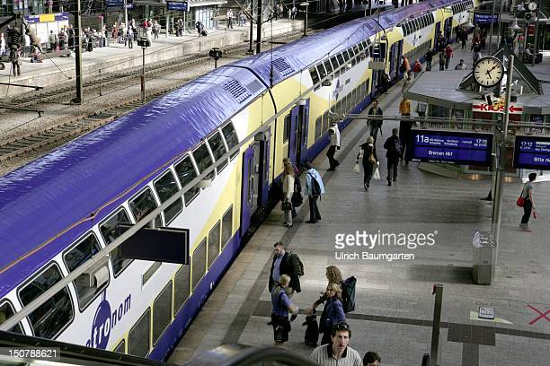 GERMANY HAMBURG Metronom at the mainstation Hamburg