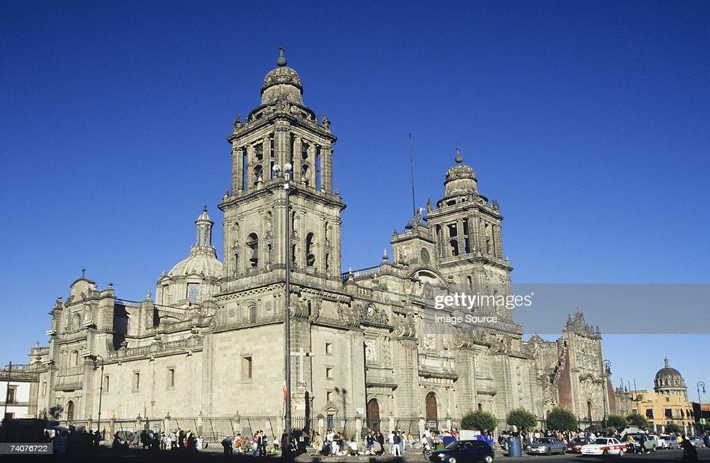 Metropolitan cathedral zocalo mexico : Stock Photo