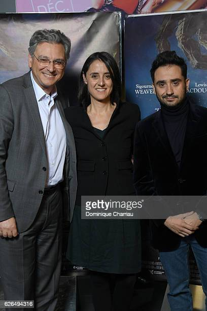 Metropolitan Filmexport Victor Hadida Producer Belen Atienza and Director Juan Antonio Bayona attends the 'Quelques Minutes Apres Minuit' Paris...