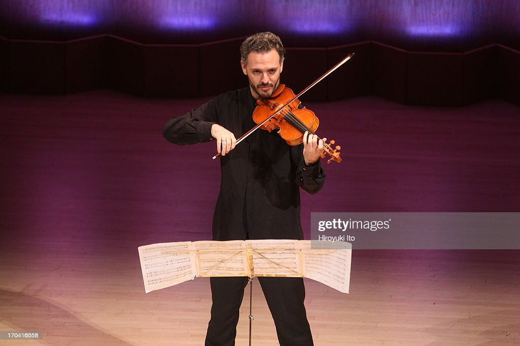 Metropolitan Museum Artists in Concert performing their final concert after 10 years of artist-in-residence at the Metropolitan Museum of Art on Friday night, June 7, 2013.This image:Colin Jacobsen performing Heinrich Ignaz Franz Biber's 'Passacaglia in G minor for Solo Violin.'