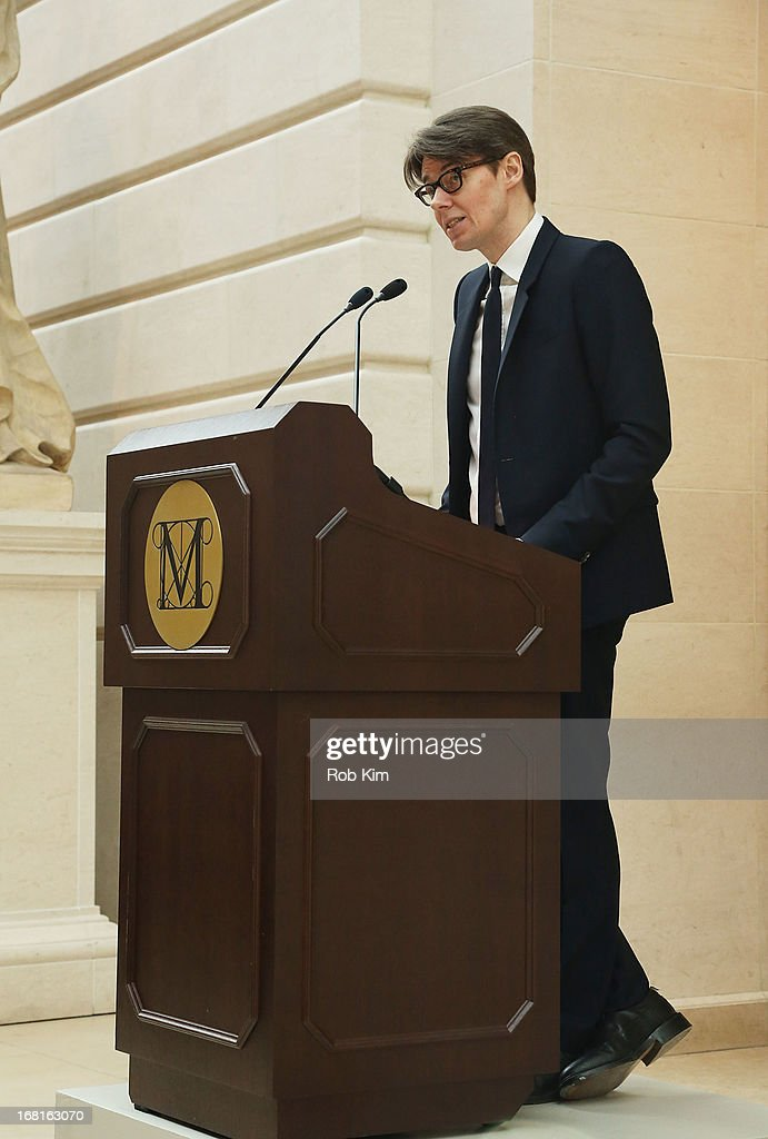 Metropolitan Museum curator <a gi-track='captionPersonalityLinkClicked' href=/galleries/search?phrase=Andrew+Bolton+-+Conservateur&family=editorial&specificpeople=14577368 ng-click='$event.stopPropagation()'>Andrew Bolton</a> attends the'PUNK: Chaos to Couture' Costume Institute Exhibition Press Preview at the Metropolitan Museum of Art on May 6, 2013 in New York City.