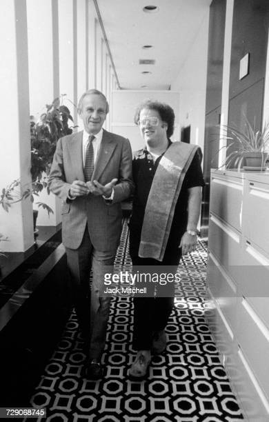 Metropolitan Opera Executive Director Anthony Bliss and conductor James Levine in 1983 Photo by Jack Mitchell/Getty Images