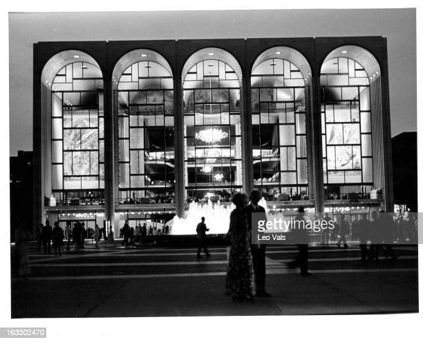 Metropolitan Opera House at Lincoln Center for the Performing Arts in New York City 1955