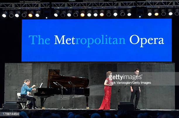 Metropolitan Opera soprano Erin Morley and tenor Stephen Costello sing an aria from Gaetano Donizetti's 'Lucia di Lammermoor' at the fifth annual...
