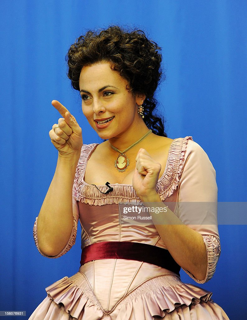 Metropolitan Opera star <a gi-track='captionPersonalityLinkClicked' href=/galleries/search?phrase=Isabel+Leonard&family=editorial&specificpeople=6072501 ng-click='$event.stopPropagation()'>Isabel Leonard</a> performs 'The Barber Of Seville' at the Kravis Children's Hospital at Mount Sinai Medical Center on December 19, 2012 in New York City.