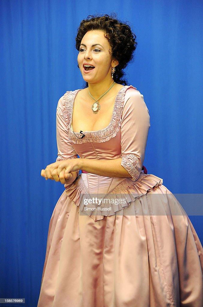 Metropolitan Opera star Isabel Leonard performs 'The Barber Of Seville' at the Kravis Children's Hospital at Mount Sinai Medical Center on December 19, 2012 in New York City.