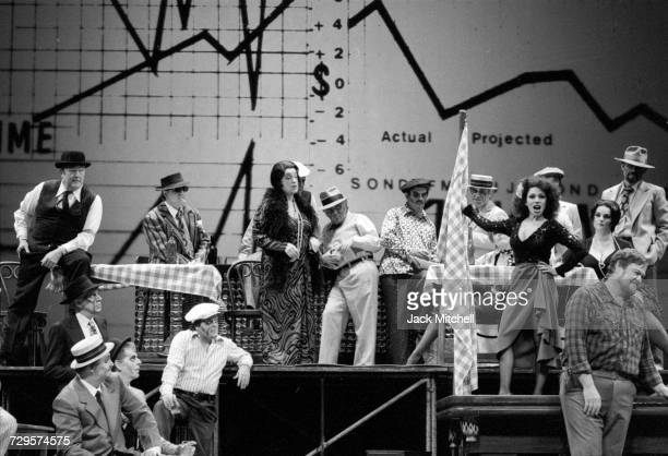 Metropolitan Opera's 'Rise and Fall of the City of Mahagonny' starring Teresa Stratas Richard Cassilly Astrid Varnay and Cornell MacNeil in November...