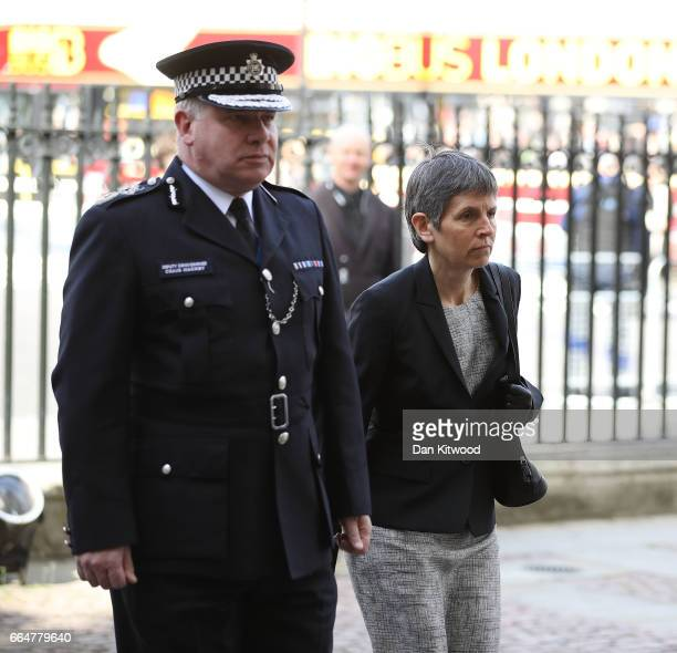 Metropolitan Police Acting Commissioner Craig Mackey and Metropolitan Police commissioner Cressida Dick attend Service of Hope at Westminster Abbey...