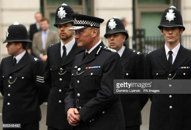 Metropolitan Police Chief Commissioner Sir Paul Stephenson at a memorial service in St James's Square London to mark the 25th anniversary of the...