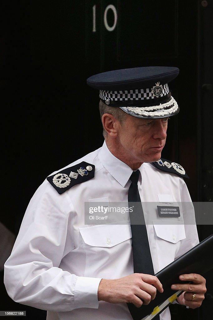 Metropolitan Police Commissioner Bernard Hogan-Howe leaves Number 10 Downing Street on November 22, 2012 in London, England.