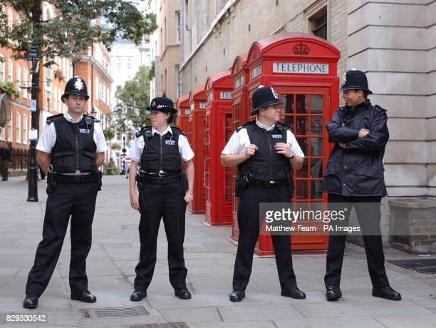 Metropolitan Police officers on duty outside Bow Street Magistrates Court in London's West End The proportion of crimes solved by police in England...