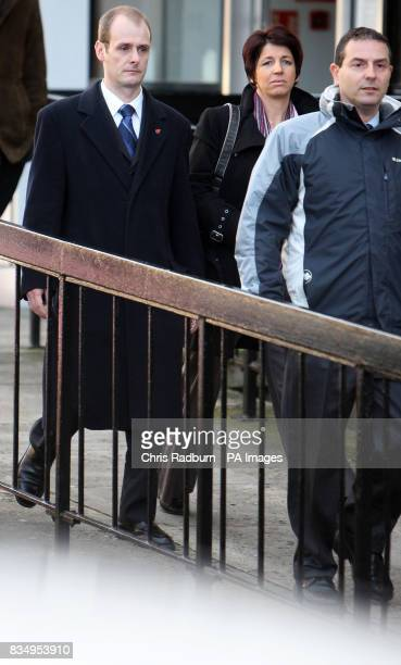 Metropolitan Police sergeant David Stevens of Highgate north London leaves St Albans Magistrates Court St Albans Hertfordshire