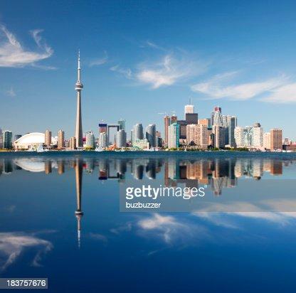 Reflet de la ville de Toronto
