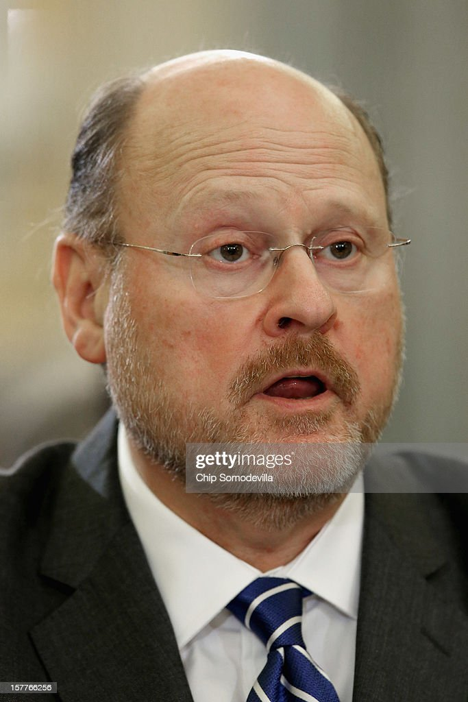 Metropolitan Transportation Authority Chairman and CEO Joseph Lhota testifies during a Senate Surface Transportation and Merchant Marine Infrastructure, Safety, and Security Subcommittee hearing on 'Superstorm Sandy: The Devastating Impact on the Nation's Largest Transportation Systems.' December 6, 2012 in Washington, DC. The heads of New York and New Jersey's mass transit systems testified before the subcommittee about the need for more federal dollars for Superstorm Sandy recovery.