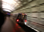 Metrorail train takes off from Union Station March 15 2016 in Washington DC Metrorail announced today that they will shut down service entirely on...