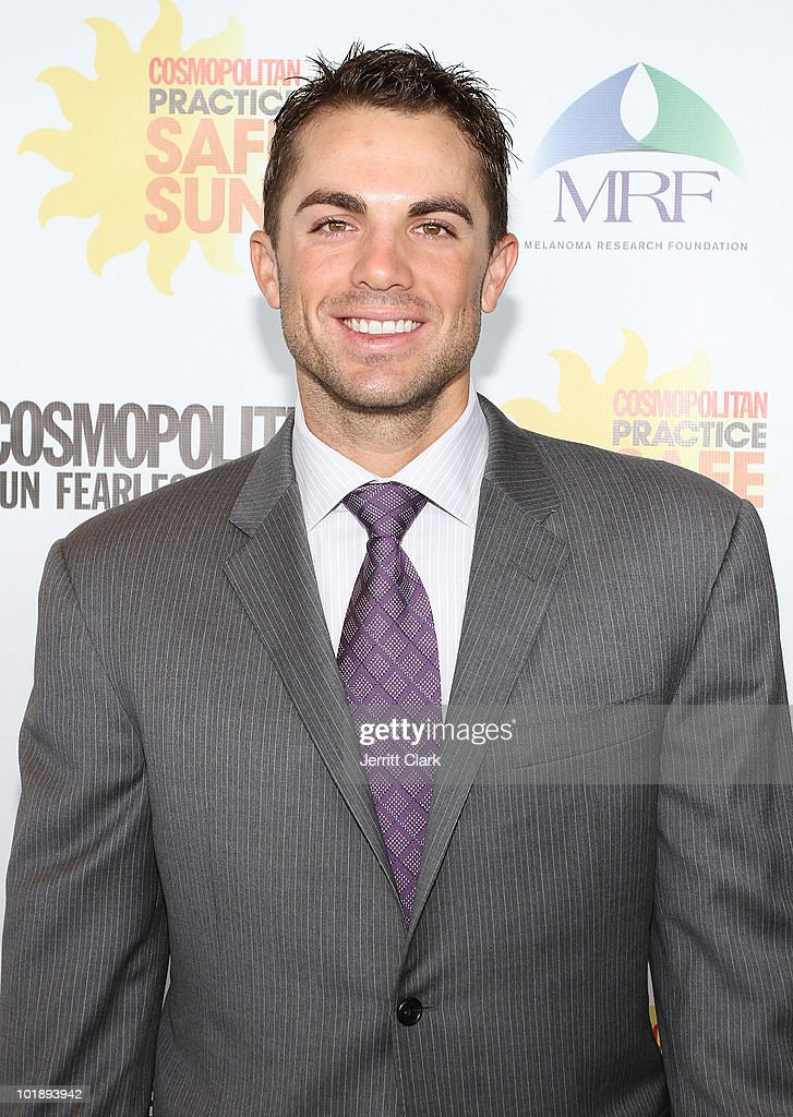 NY Mets 3rd Baseman <a gi-track='captionPersonalityLinkClicked' href=/galleries/search?phrase=David+Wright+-+Baseball+Player&family=editorial&specificpeople=209172 ng-click='$event.stopPropagation()'>David Wright</a> attends Cosmo's 2010 Practice Safe Sun Awards Luncheon at Hearst Tower on June 8, 2010 in New York City.