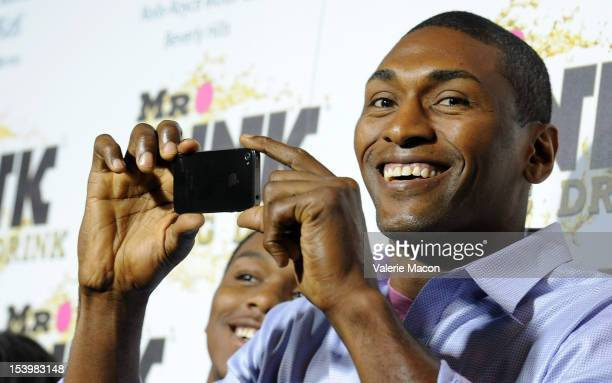 Metta World Peace arrives at Mr Pink Ginseng Drink Launch Party on October 11 2012 in Beverly Hills California