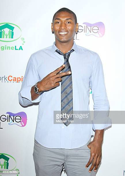 Metta World Peace arrives at The Imagine Ball held at House of Blues Sunset Strip on August 6 2014 in West Hollywood California