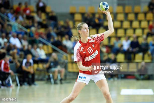 Mette Tranborg of Denmark in action during the international friendly match between Denmark and Germany at Ceres Arena on June 08 2017 in Arhus...