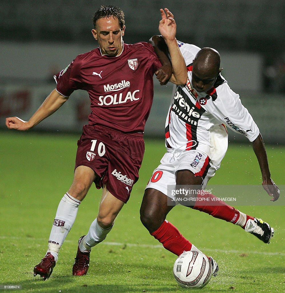 Metz s midfielder Franck Ribery L figh