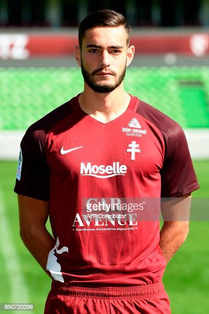 FC Metz' Serbian defender Vahid Selimovic poses for the French L1 20172018 football season official portrait on September 21 2017 at SaintSymphorien...
