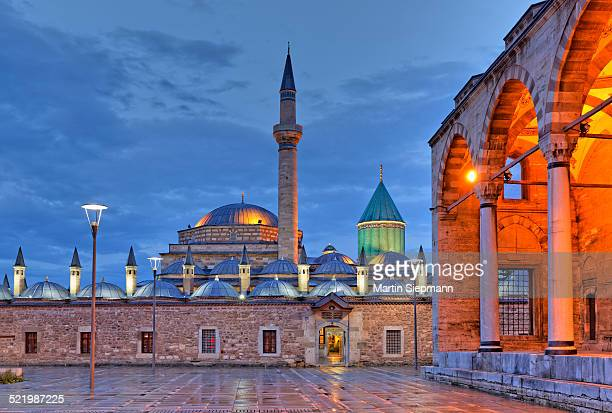 Mevlana monastery with Rumi's Mausoleum, Mevlana Museum, Konya, Central Anatolia Region, Anatolia, Turkey