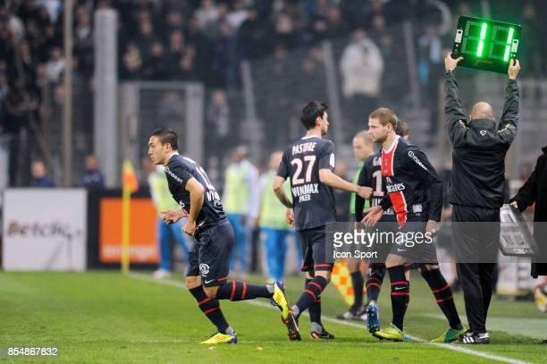 MEvlut ERDING / Javier PASTORE / Mathieu BODMER Marseille / PSG 15eme Journee de Ligue 1