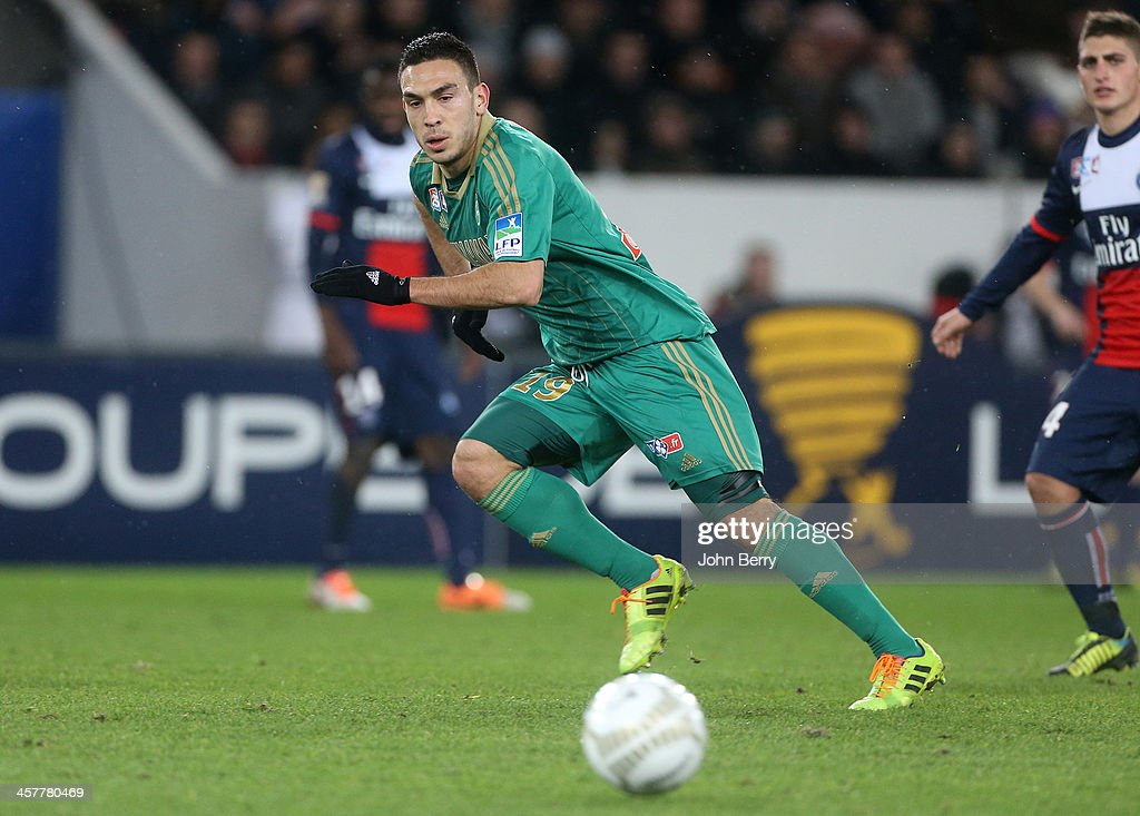 Mevlut Erding of Saint-Etienne in action during the french Ligue Cup match between Paris Saint-Germain FC and AS Saint-Etienne, ASSE, at the Parc des Princes stadium on December 18, 2013 in Paris, France.