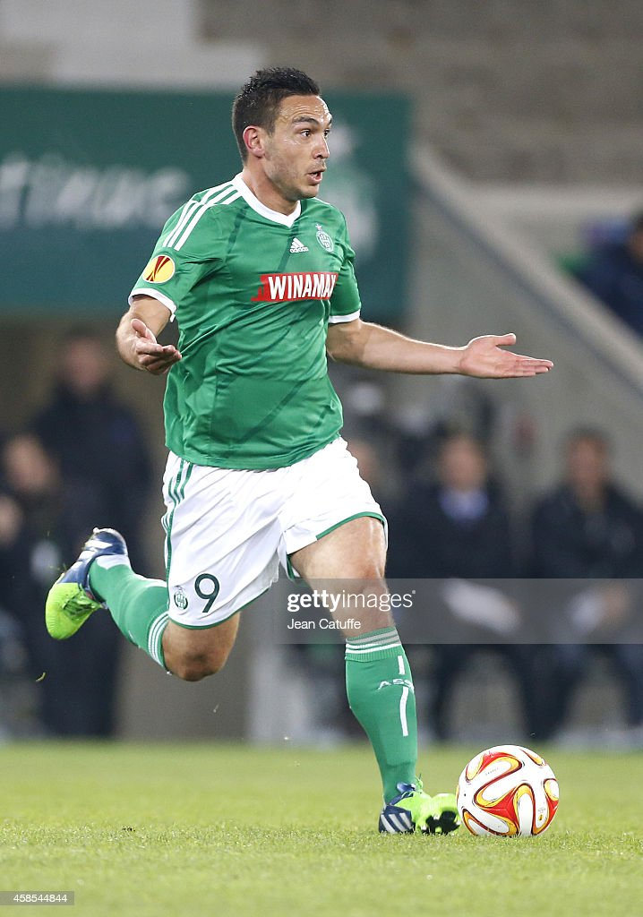 Mevlut Erding of Saint-Etienne in action during the UEFA Europa League Group F match between AS Saint-Etienne and Inter Milan on November 6, 2014 in Saint-Etienne, France.