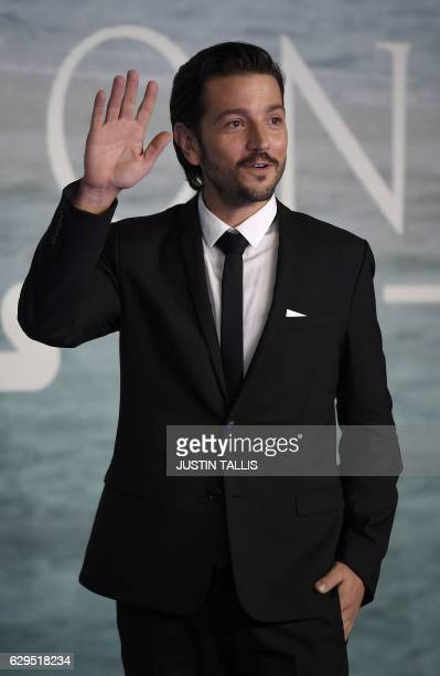 Mexican actor Diego Luna poses upon arrival at the UK launch event of Lucasfilm's 'Rogue One A Star Wars Story' at the Tate Modern in central London...