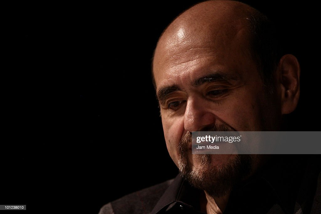Mexican Actor Edgar Vivar speaks during the Actor's Workshop at Venustiano Carranza Theater on May 27, 2010 in Mexico City, Mexico.