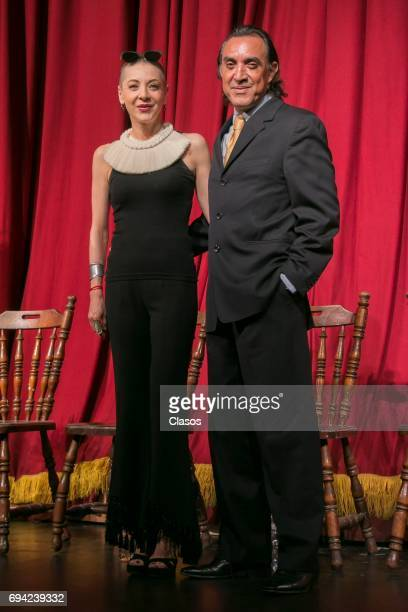 Mexican actors Edith Gonzalez and Luis Felipe Tovar pose during the press conference to announce the play 'Un Dia Particular' at San Jeronimo Theater...