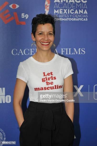 Mexican actress Adela Cortazar poses during the 59th Ariel Awards Nominees Event at Fiesta Americana Hotel on June 21 2017 in Mexico City Mexico