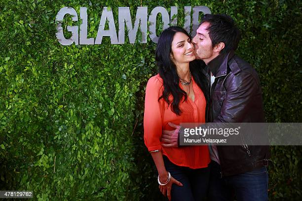 Mexican actress Aislinn Derbez and Mexican actor Mauricio Ochmann attend the Hot Pursuit film red carpet at Cinepolis Plaza Carso Cinema on June 22...