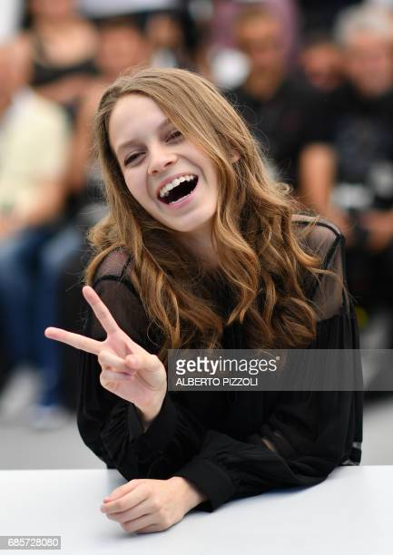 Mexican actress Ana Valeria Becerril poses on May 20 2017 during a photocall for the film 'April's Daughters' at the 70th edition of the Cannes Film...