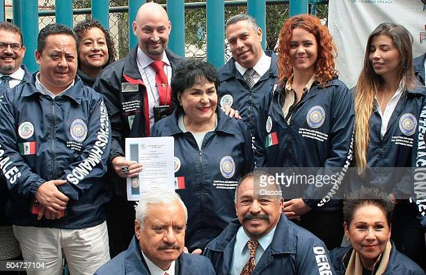 Mexican actress and legislator Carmen Salinas leaves the General Hospital after giving toys to kids on the occasion of the Epiphany on January 12...