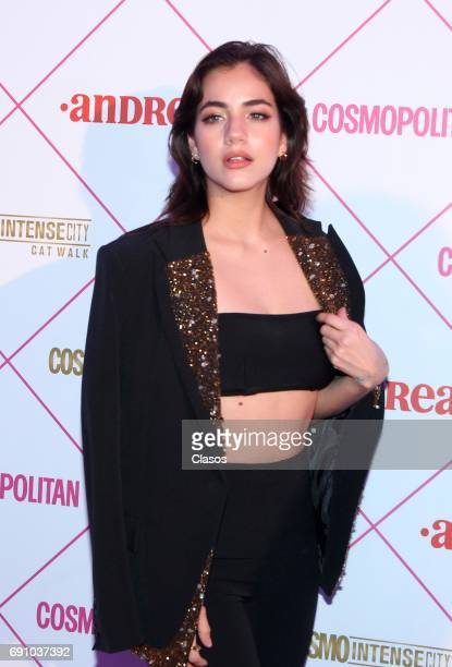 Mexican actress Ela Velden poses during the Cosmo Fashion Night Red Carpet on May 30 2017 in Mexico City Mexico
