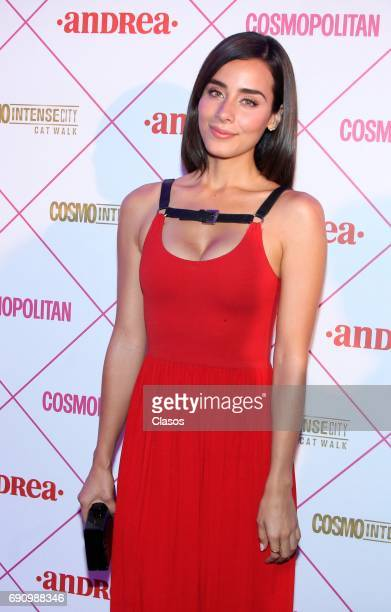 Mexican actress Esmeralda Pimentel poses during the Cosmo Fashion Night Red Carpet on May 30 2017 in Mexico City Mexico