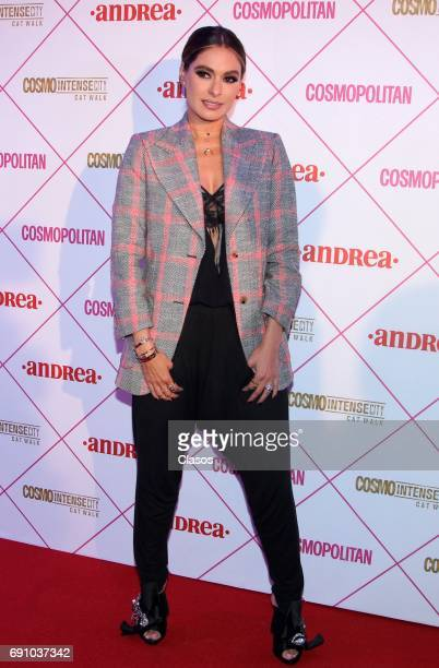 Mexican actress Galilea Montijo poses during the Cosmo Fashion Night Red Carpet on May 30 2017 in Mexico City Mexico