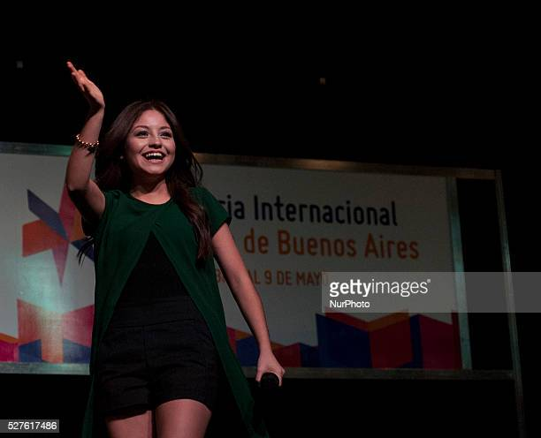 Mexican actress Karol Sevilla is presented in the press conference at the Book Fair on May 2 2016 in Buenos Aires Argentina