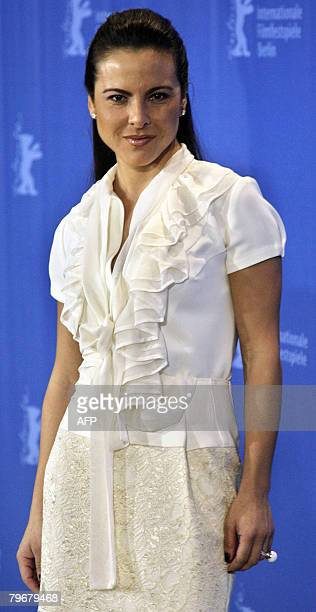 Mexican actress Kate del Castillo poses during the photocall of the movie 'Julia' by French director Erick Zonca and presented in competition for the...