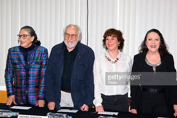 Mexican actress Patricia Reyes Spindola Director Arturo Ripstein Mexican screenwriter Paz Alicia Garciadiego and Mexican actress Nora Velazquez pose...