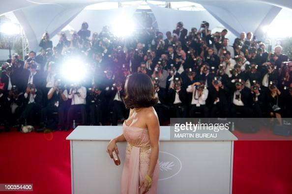 Mexican actress Salma Hayek poses during the closing ceremony at the 63rd Cannes Film Festival on May 23 2010 in Cannes AFP PHOTO / MARTIN BUREAU