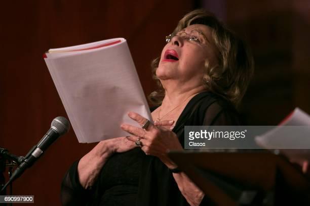 Mexican Actress Silvia Pinal attends the event 'Leo Luego Existo' at Palacio de Bellas Artes on May 28 2017 in Mexico City Mexico