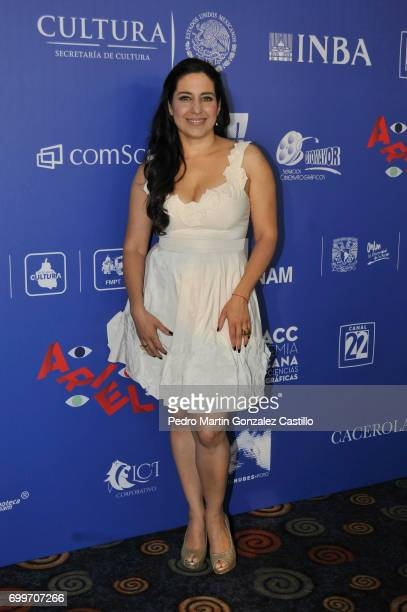 Mexican actress Tiaré Scanda poses during the 59th Ariel Awards Nominees Event at Fiesta Americana Hotel on June 21 2017 in Mexico City Mexico
