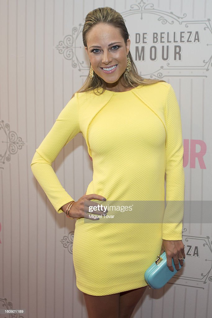 Mexican Actress Vanesa Hopenhagen attends the Glamour Magazine Beauty Awards red carpet at Indianilla Cultural Center on February 7, 2013 in Mexico City, Mexico.