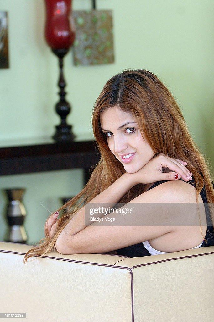 Mexican actress/singer Eiza Gonzalez poses as part of media tour October 24 2008 in San Juan Puerto Rico