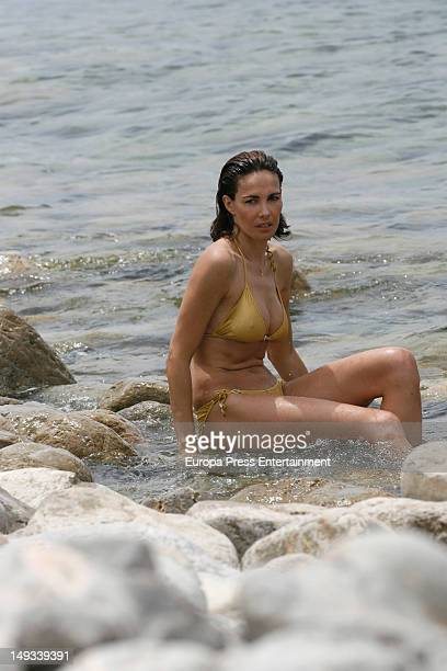 Mexican Adriana Abascal is seen on July 26 2012 in Ibiza Spain