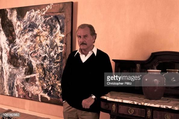 Mexican author Carlos Fuentes in London 1994
