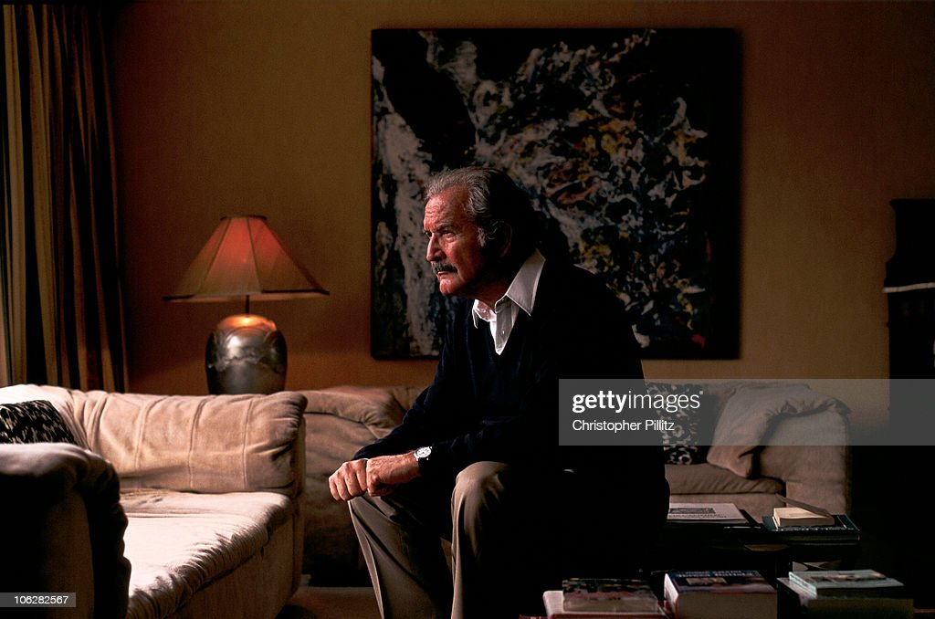 Mexican author <a gi-track='captionPersonalityLinkClicked' href=/galleries/search?phrase=Carlos+Fuentes&family=editorial&specificpeople=602894 ng-click='$event.stopPropagation()'>Carlos Fuentes</a> in London, 1994.